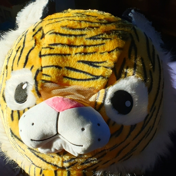K Mart tiger head mask.
